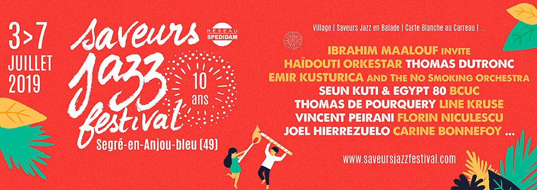 Saveurs Jazz Festival - du 3 au 7 juillet 2019 à Segré