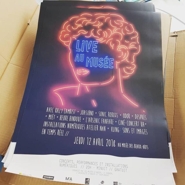 Rception des affiches pour ldition 2018 de Live au Musehellip