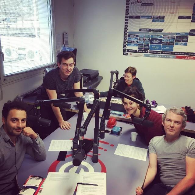 Aux studios de RadioG avec Lucas et Tom de matchfrhellip